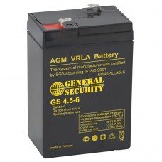 Аккумулятор 6V 4,5Ah GS свинцовый