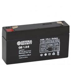 Аккумулятор 6V 1,3Ah GS свинцовый