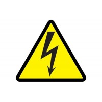 Знак безопасности Молния 50х50х50 треугольник