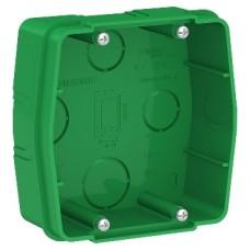 BLANCA коробка скрытой установки монтажная для силовых розеток, зеленый