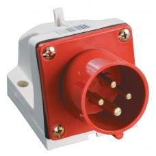 Вилка кабельная 16А 3Р+E IP44 на поверхность 380В 514