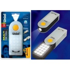 Uniel S-CL012-C White Фонарь автомобильный «Small Multifunctional Assistant» 15+1 LED 3xAAA