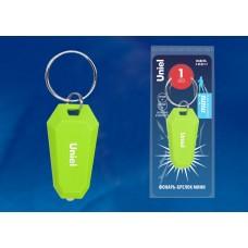 Uniel S-KL021-T GREEN Фонарь-брелок серии Стандарт, пластиковый корпус, 1 LED, 2 х CR1220