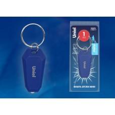 Uniel S-KL021-T BLUE Фонарь-брелок серии Стандарт, пластиковый корпус, 1 LED, 2 х CR1220