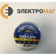 Изолента ПВХ 19 мм-20м белая Safeline