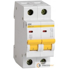 Выключатель автоматический 2п C 63А ВА 47-29 4.5кА ИЭК MVA20-2-063-C