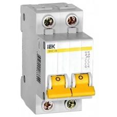 Выключатель автоматический 2п B 20А ВА 47-29 4.5кА ИЭК MVA20-2-020-B