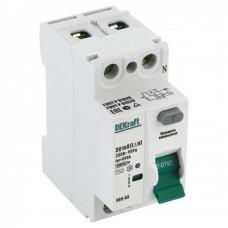 Включатель дифференциального тока (УЗО) 2п 40A 30мА УЗО-03 DEKraft