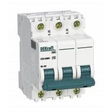 Выключатель автоматический трехполюсный 16А С ВА-101 4.5кА DEKraft