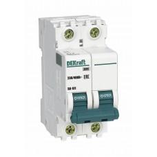 Выключатель автоматический двухполюсный 63А С ВА-101 4.5кА DEKraft