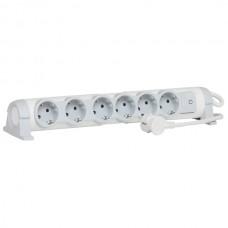 Многорозеточный блок ''Комфорт'' 6 x 2К+З - с кабелем длиной 3 м