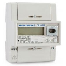 Счетчик электроэнергии СЕ 102М R5 145 J 1ф 5-60А 1 класс точн., многотариф., оптопорт, ЖКИ