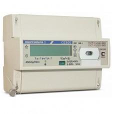Счетчик электроэнергии трехфазный однотарифный CE300 R31 145-J 60/5 T1 D 230/400B ЖКИ (Энергомера)