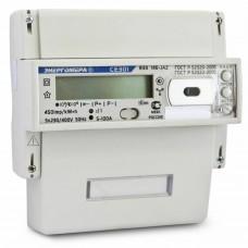 Счетчик электроэнергии трехфазный многотарифный CE301 R33 60/5 T4 D+Щ 230/400B ЖК RS485(Энергомера)