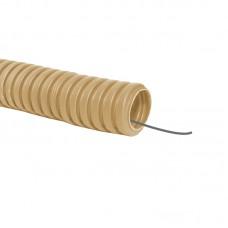 Труба гофрированная ПВХ с зондом d16мм ЭКО (сосна) TDM