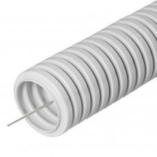 Труба гофрированная ПВХ с зондом d25мм (Промрукав) 032550