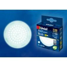 Uniel Лампа светодиодная, матовая LED-GX-53-16W/NW/GX53/FR PLZ01WH 4000k белый свет
