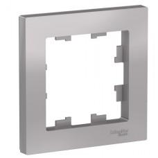 Рамка однопостовая ATLASDESIGN алюминий
