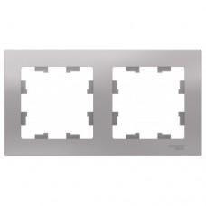 Рамка двухпостовая ATLASDESIGN универсальная алюминий