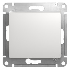 GLOSSA Выключатель 1-кл в рамку белый