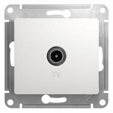 GLOSSA Розетка TV одиночная в рамку 1дБ белая (Коннектор)