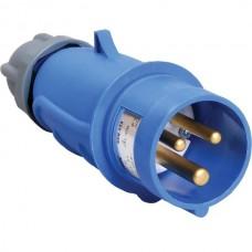 Вилка кабельная эл. 32А 2P+PЕ 220В IP44 (ССИ-023) ИЭК PSR01-032-3