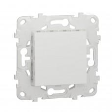 UNICA NEW Выключатель одноклавишный схема 1 10 AX 250 В белый