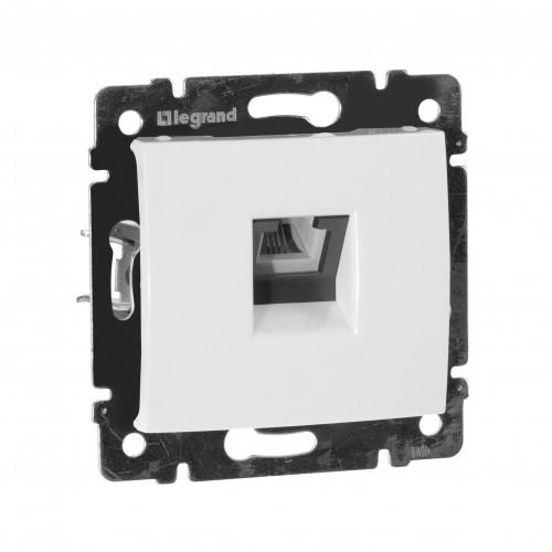 Телефонная розетка - Valena - RJ11 - 4 контакта - 1 выход - белый