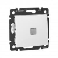 VALENA Выключатель одноклавишный с подсветкой в рамку белый