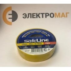 Изолента ПВХ 19 мм-20м желтая Safeline