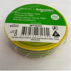 Изолента ПВХ 19мм 20м желто-зеленая (SchE)
