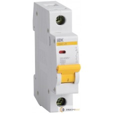 Выключатель автоматический 1п C 20А ВА 47-29 4.5кА ИЭК MVA20-1-020-C