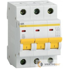 Выключатель автоматический 3п C 40А ВА 47-29 4.5кА ИЭК MVA20-3-040-C
