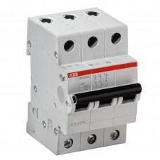 Выключатель автоматический 3п C 50А SH203L 4.5кА ABB (SH203L C50)