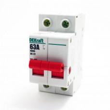 Выключатель нагрузки 2п ВН-102 63А DEKraft