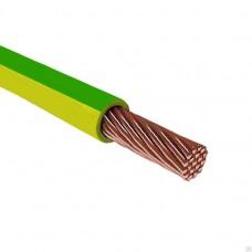Провод силовой ПУГВнг(А)-LS 1х6 желто-зеленый (Электрокабель)