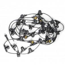 Uniel Гирлянда Белт-лайт UDL-K110 40/E27/10M IP65 BLACK BELT-LIGHT 10 м + 1,5м сетевой шнур. 40 пат