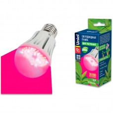"Uniel Лампа светодиод. для растений LED-A60-9W/SP/E27/CL ALM01WN Форма ""A"", прозрачная колба."