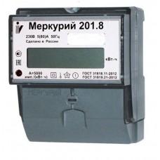 """Счетчик электроэнергии """"Меркурий"""" 201.8 1ф 5/80A T1 D 230B"""