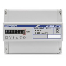 Счетчик электроэнергии трехфазный однотарифный ЦЭ-6803В 60/5 Т1 D кл1 М7 Р31 230В 4-проводной