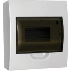 Щит распределительный навесной ЩРн-П-08 IP40 пластиковый белый прозрачная дверь ИЭК