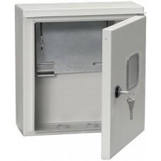 Корпус щита учета под 1-ф счет. 1 дверь ЩУ1/1-0IP54 ИЭК MKM51-N-01-54