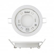 Uniel Светильник ультратонкий встраиваемый GX53/H2 White