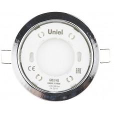 Uniel Светильник ультратонкий встраиваемый GX53/H2 CHROME