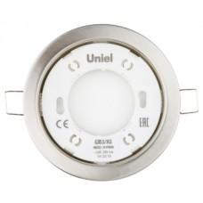 Uniel Светильник ультратонкий встраиваемый GX53/H2 NICKEL