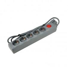 Uniel Сетевой фильтр серии Universal 3м 5 розеток с/з S-GSU5-3 Grey