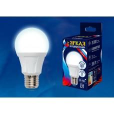 Uniel Лампа светодиодная, матовая LED-A60-8W/NW/E27/FR PLP01WH 4000k белый свет. Серия Яркая