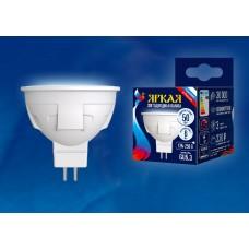 Uniel Лампа светодиодная, матовая LED-JCDR 6W/NW/GU5.3/FR PLP01WH 4000k белый свет. Серия Яркая