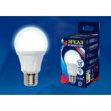 Uniel Лампа светодиодная, матовая LED-A60 16W/4000K/E27/FR PLP01WH 4000k бел. свет. Серия Яркая