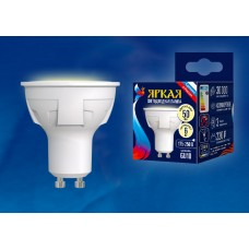 Uniel Лампа светодиодная, матовая LED-JCDR 6W/WW/GU10/FR PLP01WH 3000k теп. белый свет. Серия Яркая
